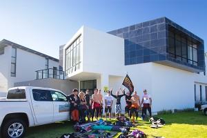 Kitereise-Gruppe von KiteWorldWide in Kapstadt
