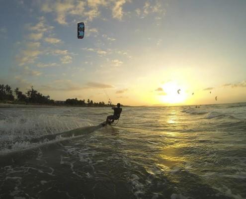 Kitesurfen in Punta Chame, Panama