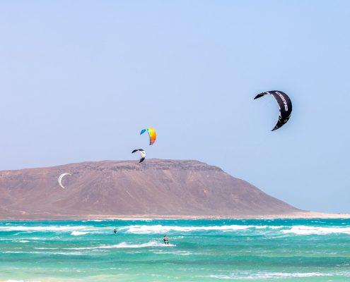 Kitesurfen auf Sal, Kapverden