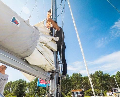 Preparation for sailing