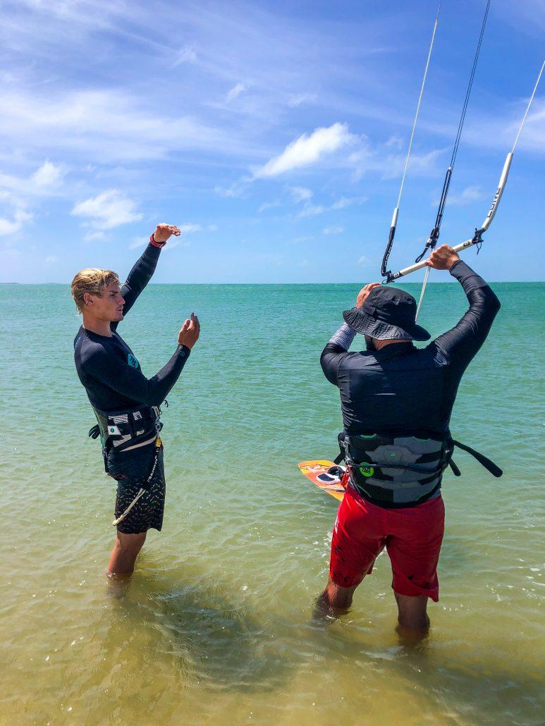 Kitesurfing Linus 2