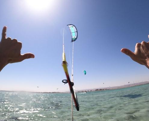 Lernt Kitesurfen in El Gouna im Makani Beach Club Aegypten