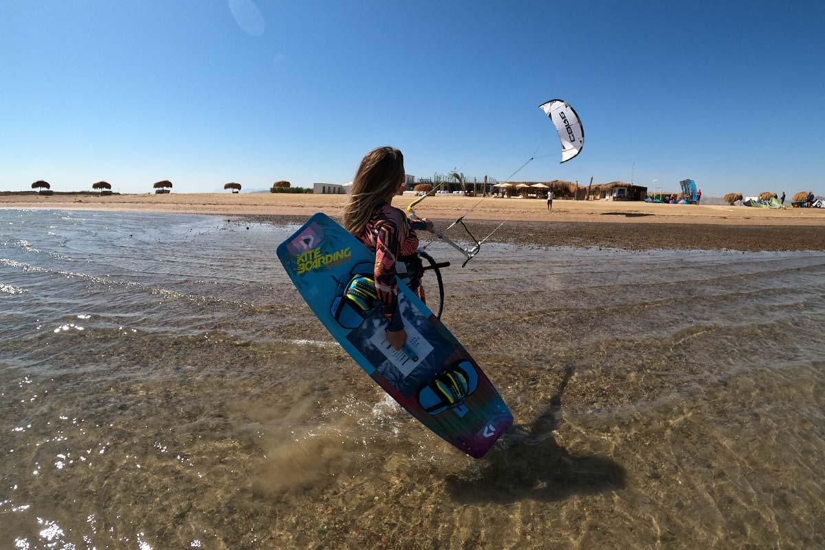 Kitesurfen in El Gouna Aegypten im Makani Beach Club