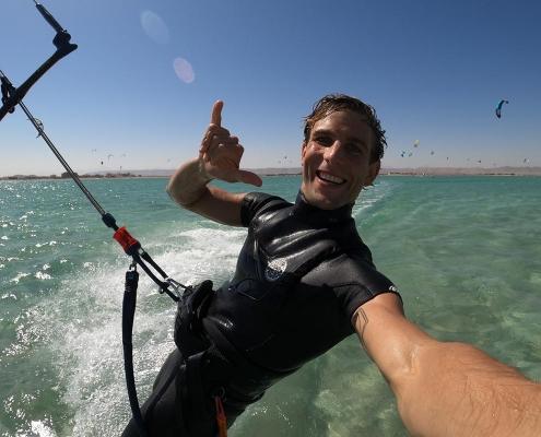 Kitesurfen in El Gouna, Aegypten im Makani Beach Club