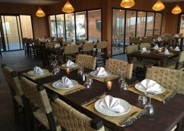 Marokko, La Tour d'Eole Dakhla Restaurant innen