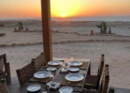 Marokko, La Tour d'Eole Dakhla Restaurant mit Lagunenblick