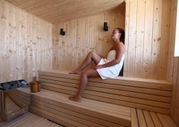 Entspanntung in der Saune des Windtown Lagoon Hotels