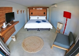 Das Doppelzimmer im Windtown Lagoon Hotel in Langebaan