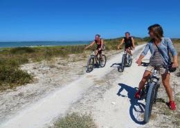 Mountainbikes können in Langebaan Windtown geliehen werden