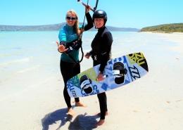 Kitesurfen in Suedafrika lernst du am feinen Sandstrand