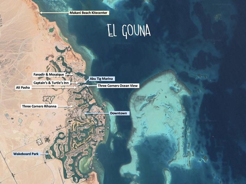 Kartenüberblick von El Gouna, Ägypten
