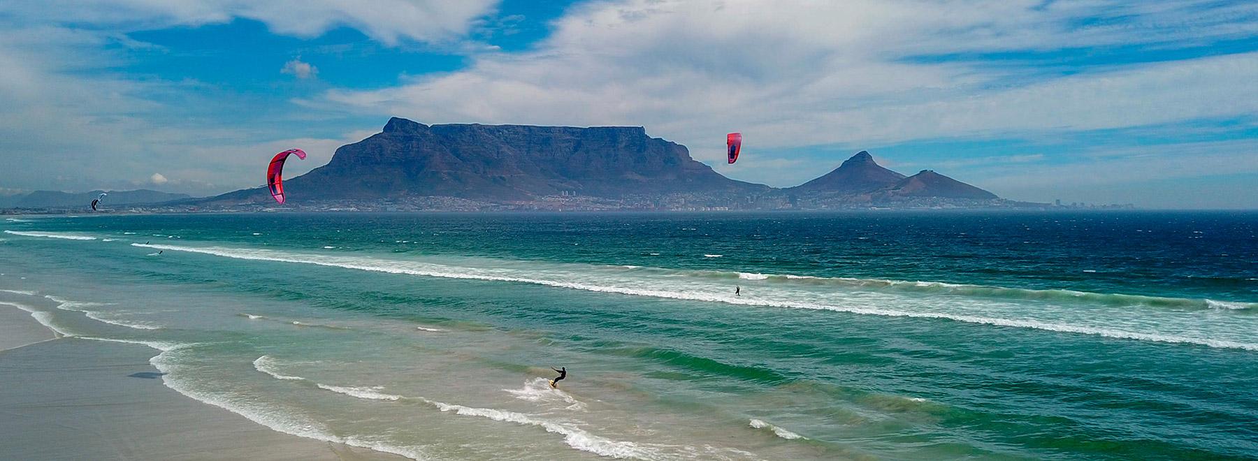 Kitesurfen in Kapstadt, Suedafrika