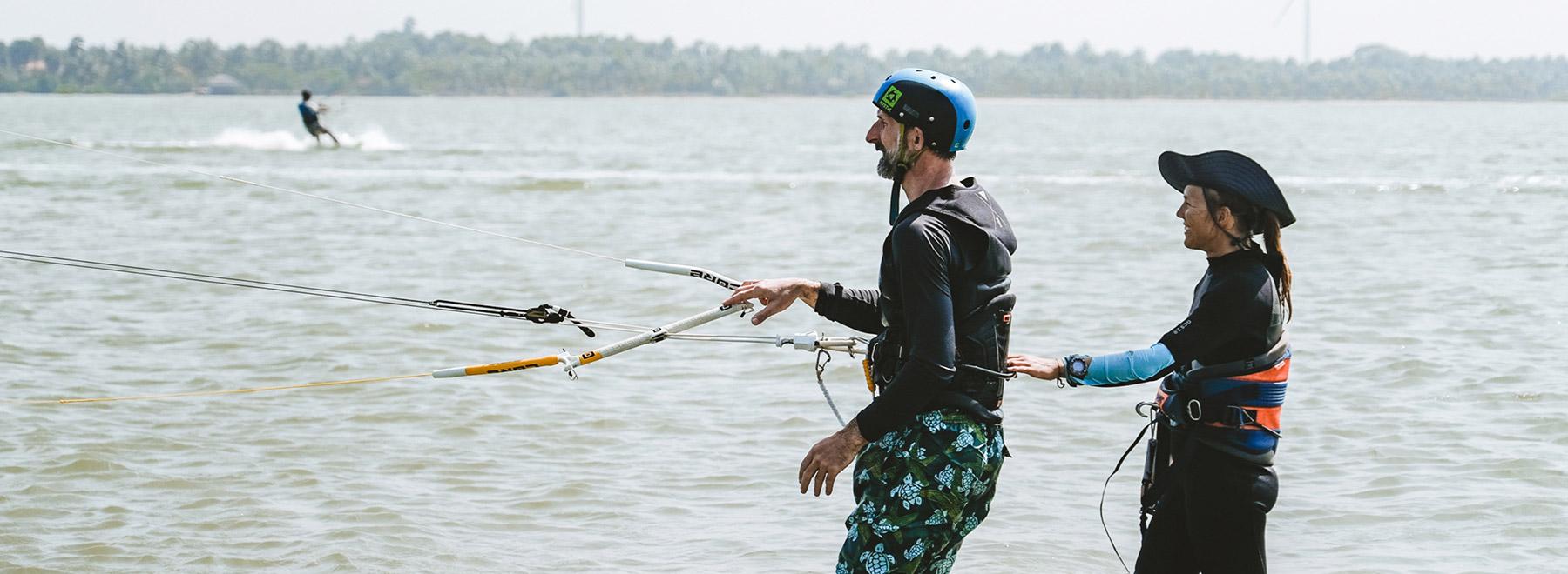 Kitesurfen lernen in Kalpitiya, Sri Lanka