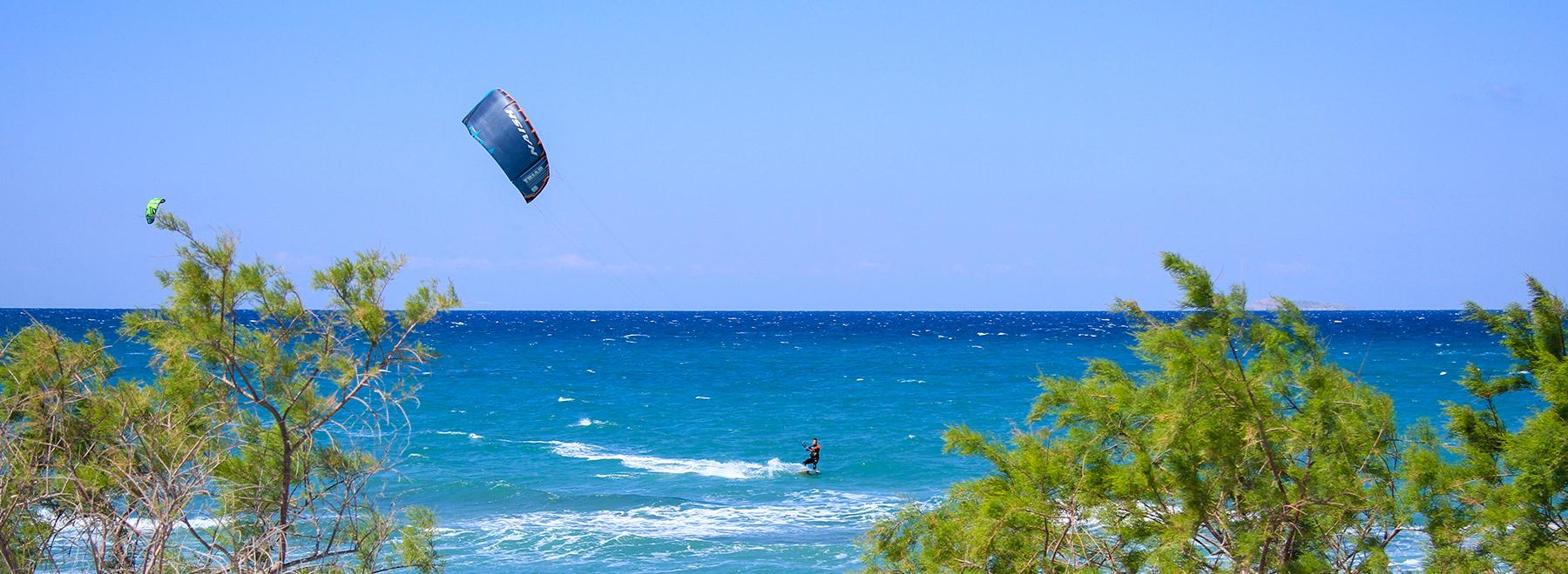 Kitesurfen auf Kos, Griechenland