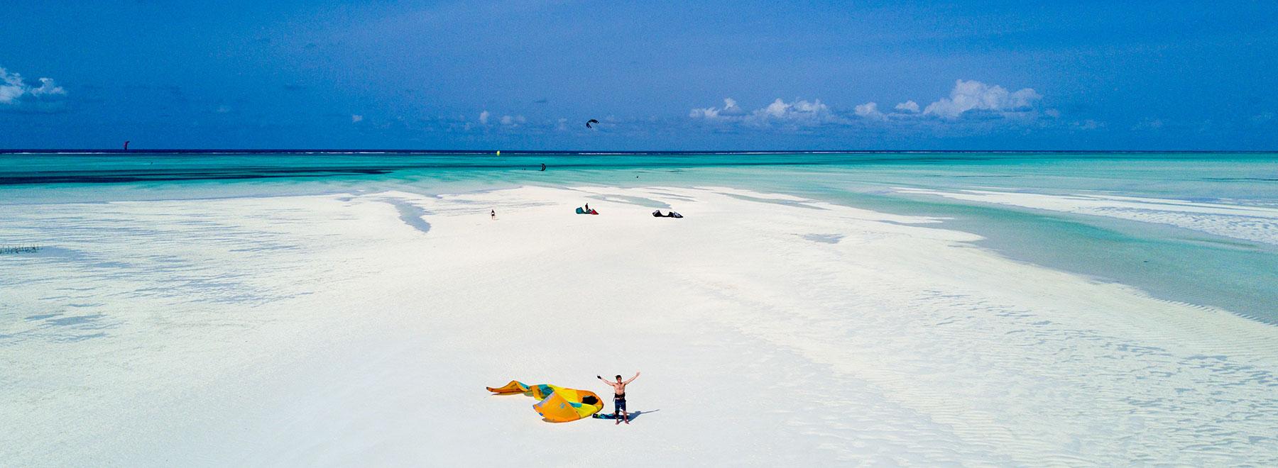 Auf Sansibar Kitesurfen