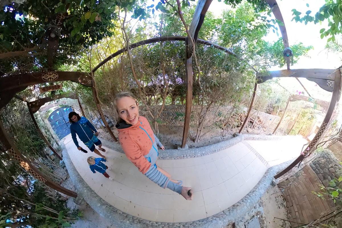 Mit Anne auf Kitereise in Ägypten in der Seahorse Bay