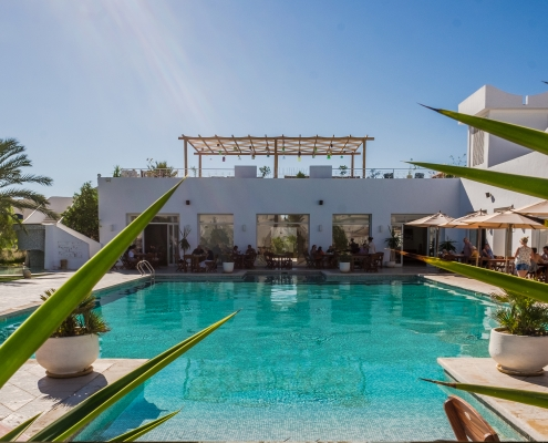 Der Pool des Jardin-de-Toumana auf Djerba
