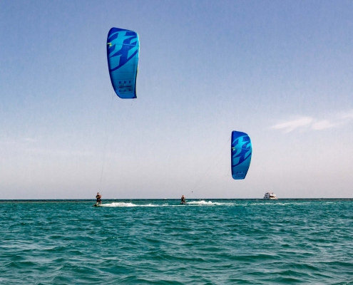 Kitesurfen im Kiteclub Seahorse Bay in Aegypten