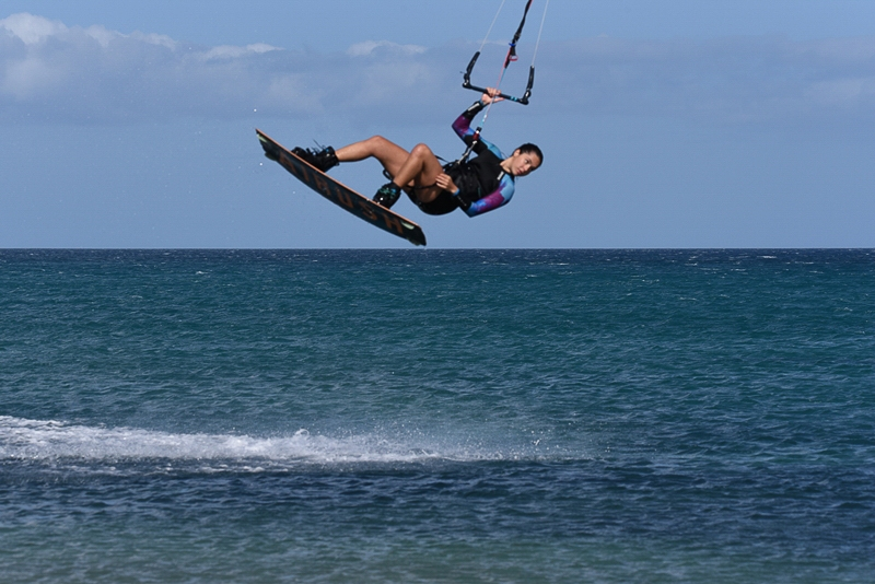 red back role kiteboarding matasbay fuerteventura